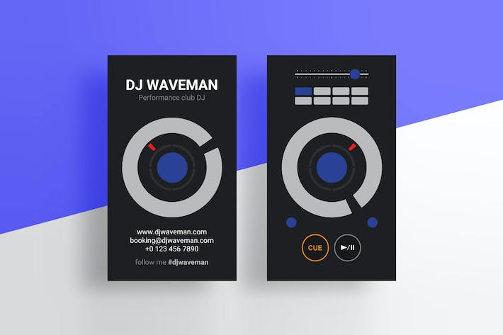 Cover Image For Digital DJ Business Card PSD Template