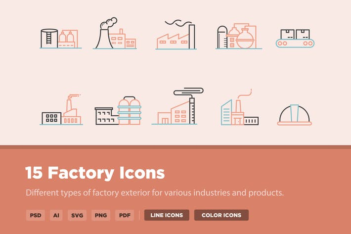 Thumbnail for 15 Factory Icons