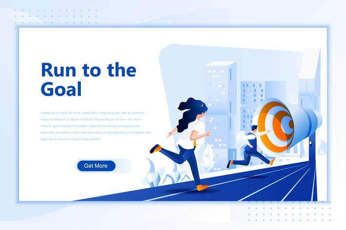 Thumbnail for Run To The Goal Flat Landing Page Header