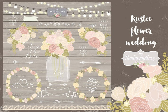 Cover Image For Rustic flower wedding elements