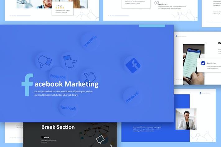 Thumbnail for Facebook Marketing Google Slides Presentation
