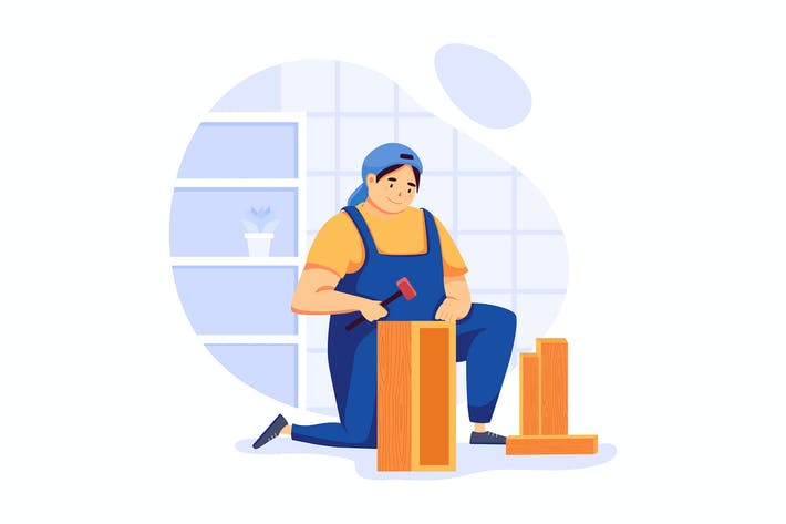 Furniture Assembly - Handyman Service Illustration