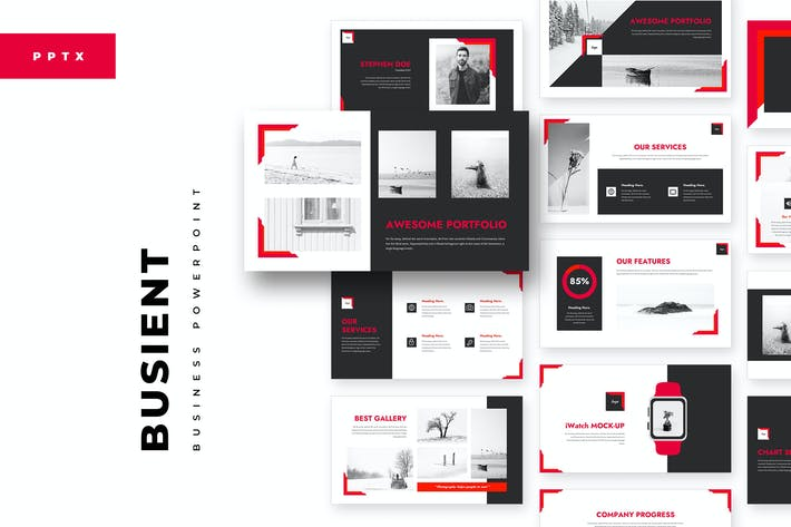 Thumbnail for BusiEnt PowerPoint Template