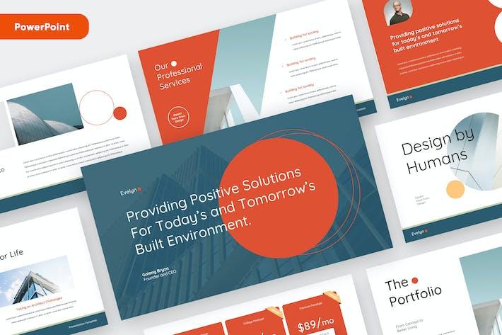EVELYN - Архитектура бизнес Powerpoint Шаблон