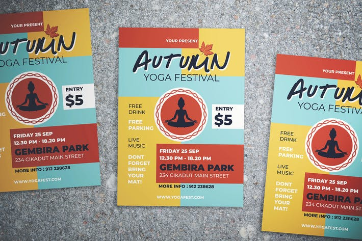 Thumbnail for Autumn Yoga Fest Flyer