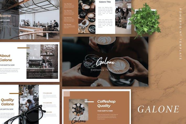 Thumbnail for GALONE - Шаблон Powerpoint кофейни