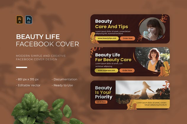 Beauty Life   Facebook Cover