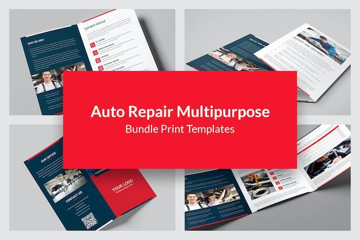 Thumbnail for Auto Repair – Bundle Print Templates 5 in 1