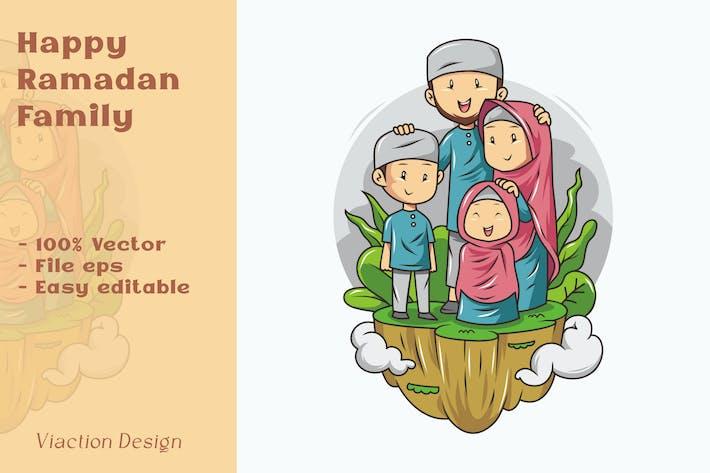 DV - Happy Ramadan Family Illustration