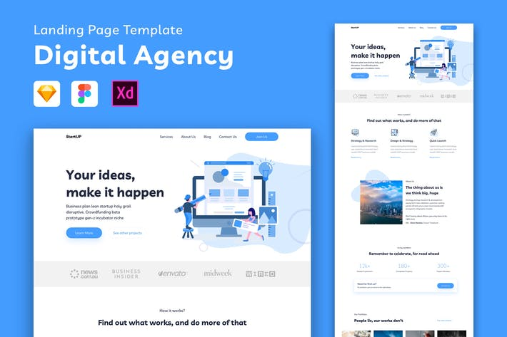 Thumbnail for Digital Agency Landing Page Template