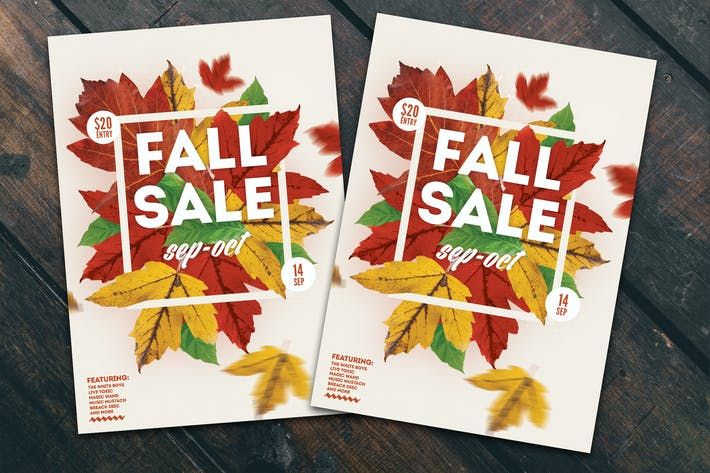 Thumbnail for Fall Sale Flyer Poster