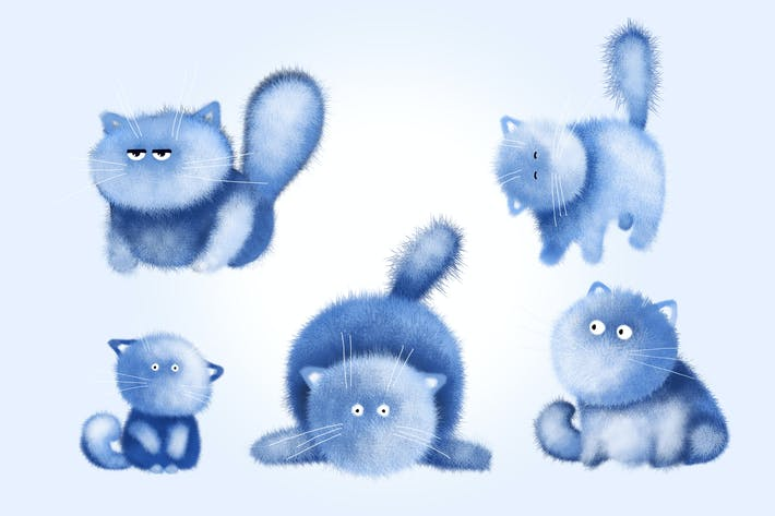 Thumbnail for Fluffy Cat Clipart