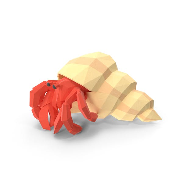 Low Poly Hermit Crab
