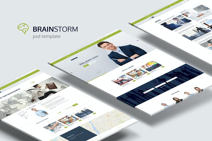 Thumbnail for BrainStorm — Multi-purpose Training PSD Theme
