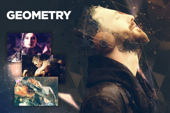Thumbnail for Geometry CS4+ Photoshop Action