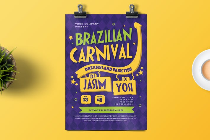 Thumbnail for Brazilian Carnival Flyer