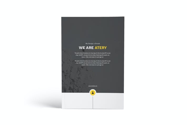 Cover Image For Atery Resume CV A4 Brochure Template