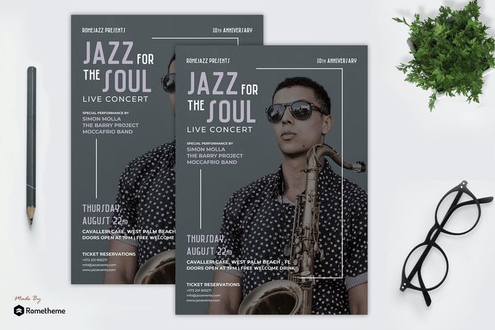 Thumbnail for Jazz Music Festival Flyer vol.02