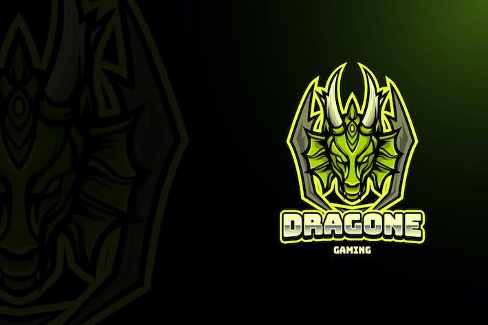 Thumbnail for DRAGON MASCOT LOGO TEMPLATE