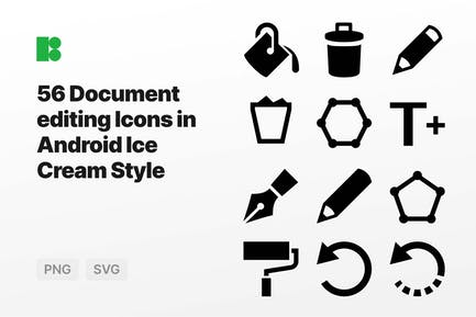 Document editing Icons in Android Ice Cream Style