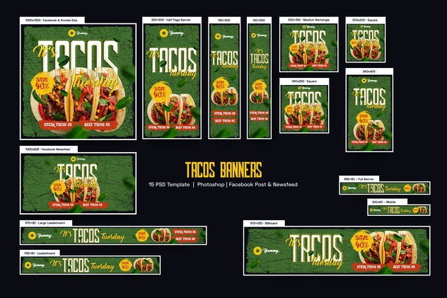Tacos Banners Ad