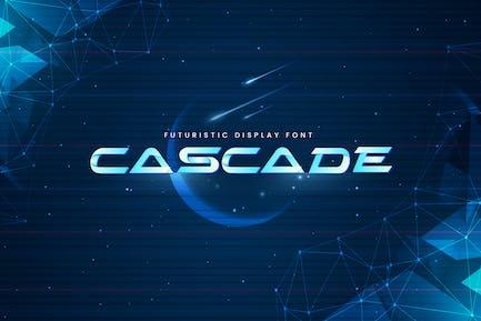 Cascade - Police d'affichage futuriste