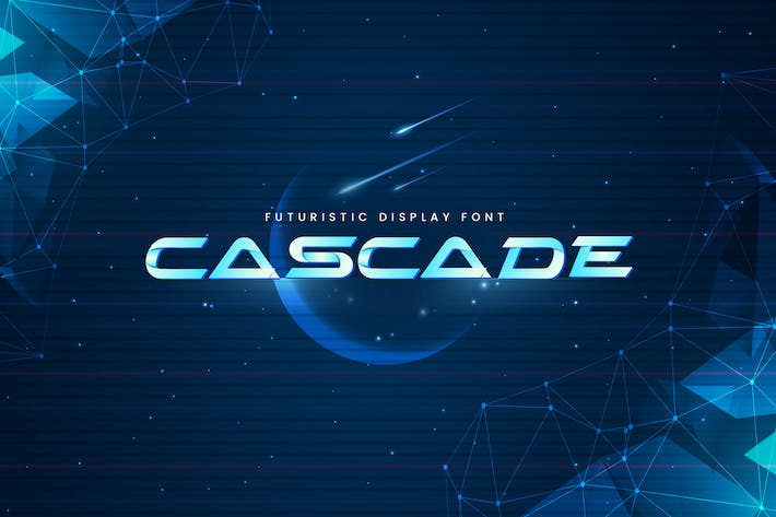 Thumbnail for Cascade - Futuristic Display Typeface