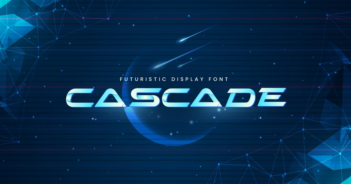 Download Cascade - Futuristic Display Typeface by naulicrea