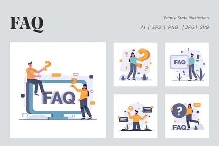 FAQ Illustration for Empty state