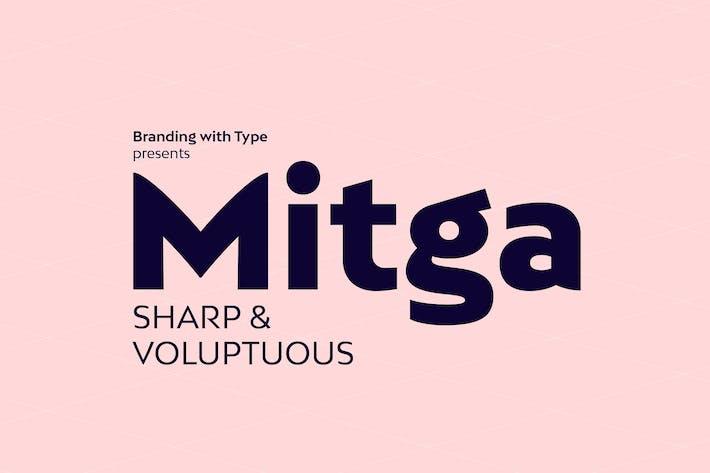Thumbnail for Bw Mitga font family