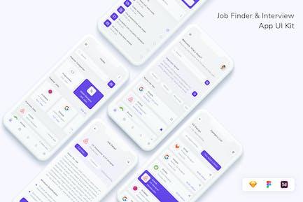 UI-Kit für Jobfinder- und Inter