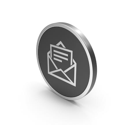 Silver Icon Letter With Paper