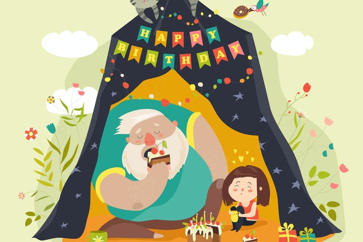 Thumbnail for Daddy and his daughter celebrating birthday.