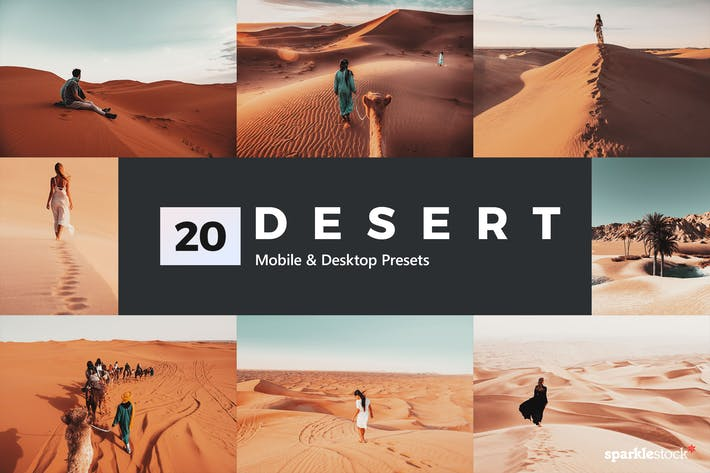 Thumbnail for 20 Desert Lightroom Presets and LUTs