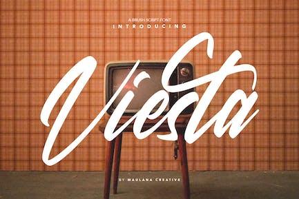 Viesta Brush Script Vintage Handmade Tipo de letra