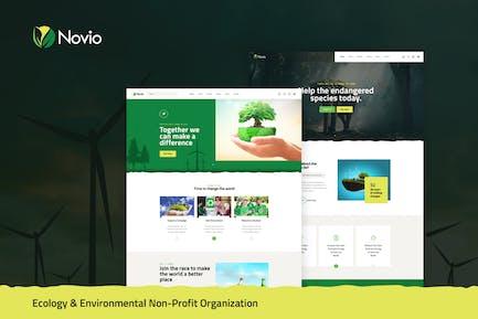 Novio - Eco & Environmental Non-Profit PSD