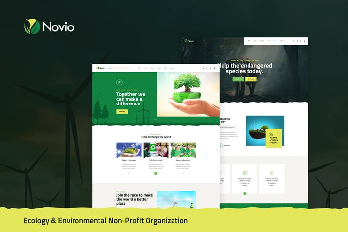 Thumbnail for Novio - Eco & Environmental Non-Profit PSD