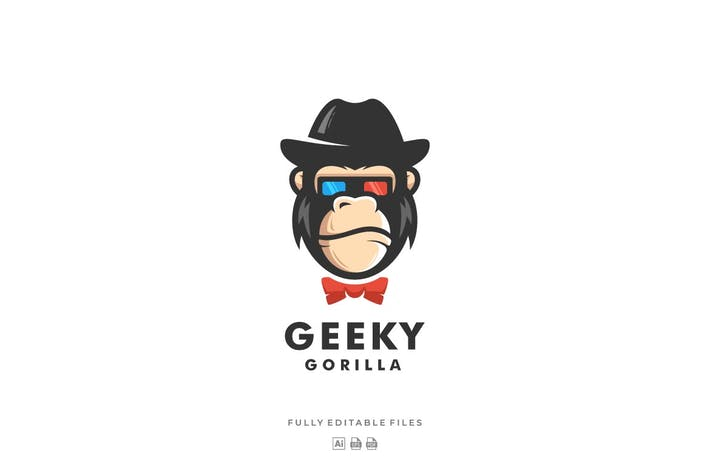 Thumbnail for Gorilla Color Mascot Logo