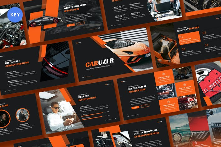 Thumbnail for Caruzer Automotive Keynote Template