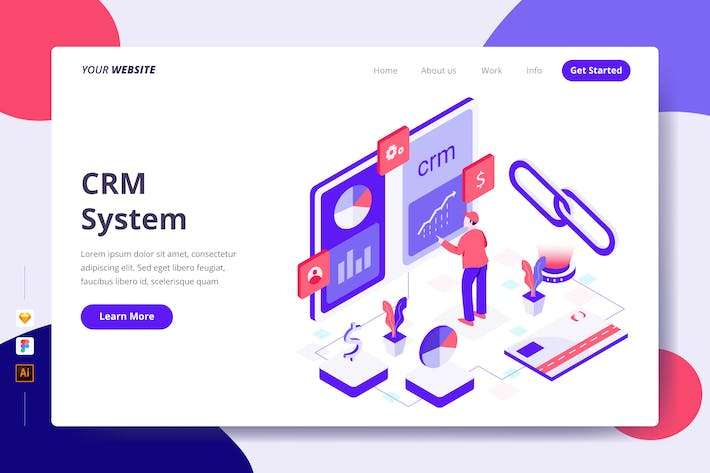 Thumbnail for CRM System - Landing Page