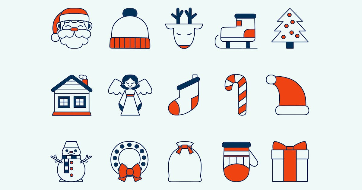 Download Christmas Red Icons by Jumsoft