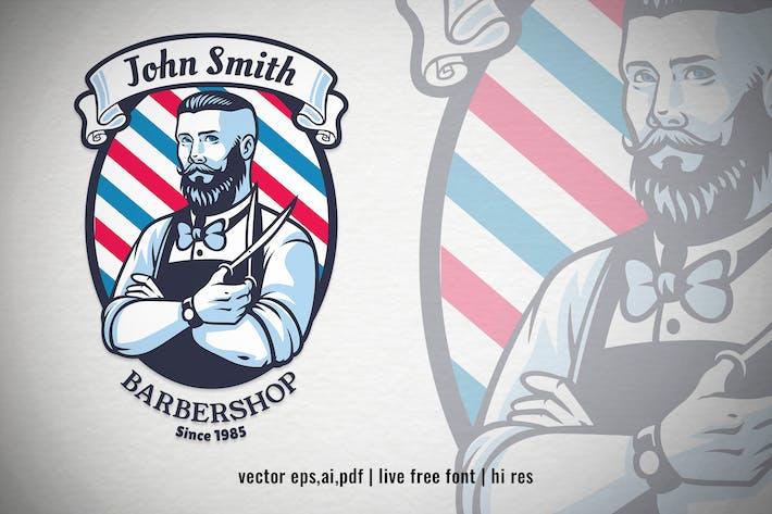 Retro-Stil von Barbershop Logo