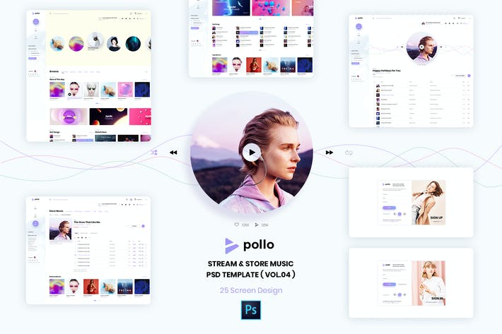 Thumbnail for Stream & Store Music PSD Template ( version 4.0 )