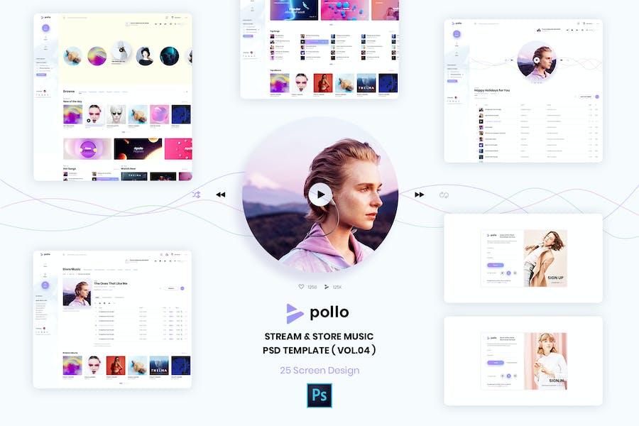 Stream & Store Music PSD Template ( version 4.0 )