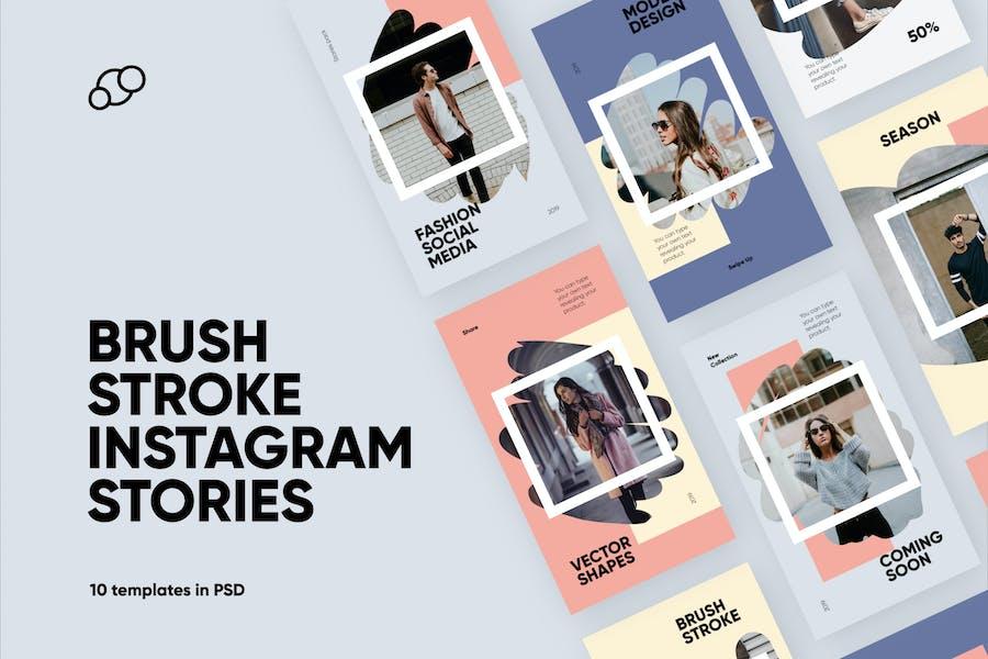 Brush Stroke Instagram Stories