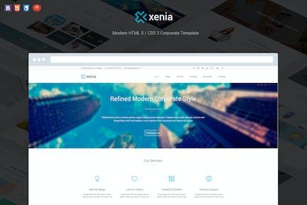 Xenia - Modèle d'Entreprise HTML 5/CSS 3 affiné