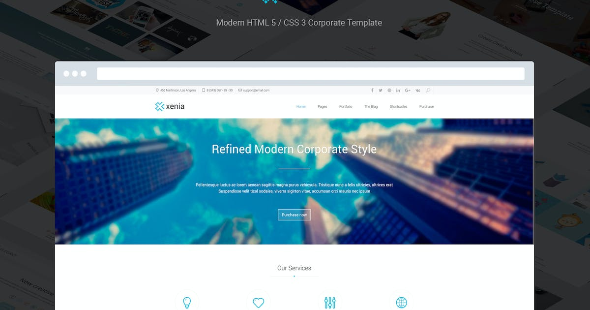 Xenia - Refined HTML 5 / CSS 3 Corporate Template by DankovThemes