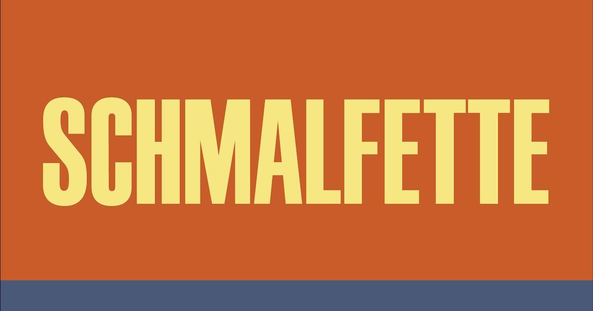 Download Schmalfette by WalcottFonts