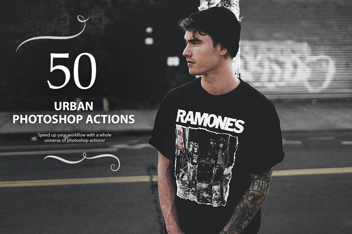 Thumbnail for 50 Urban Photoshop Actions