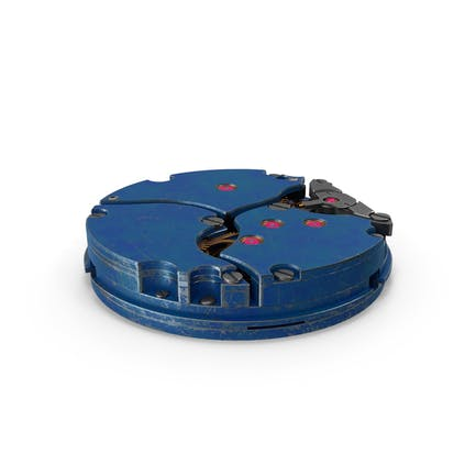 Mecanismo de reloj azul rayado
